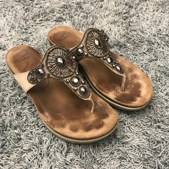 de62c66a768 Dansko Shoes - Danskos Pamela Jeweled Thong Sandal